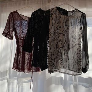 3 maternity tops with back tie
